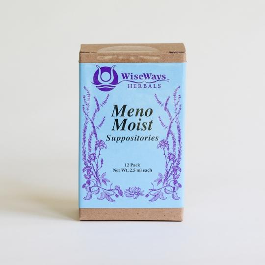 Menomoist Suppositories 12 Pk Wiseways Herbals